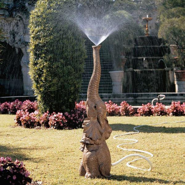 Water-Spouting Safari Sculptures