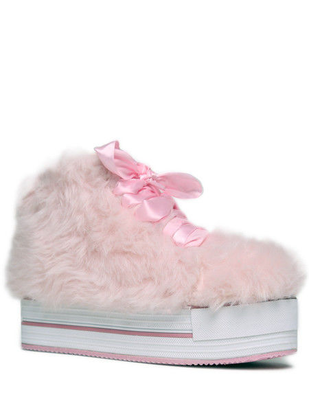 Furry Platform Sneakers
