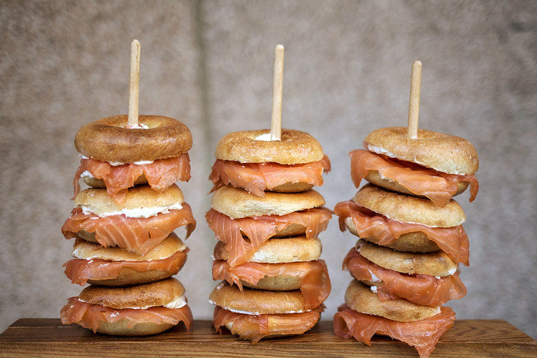 Stylish Bagel Stacks