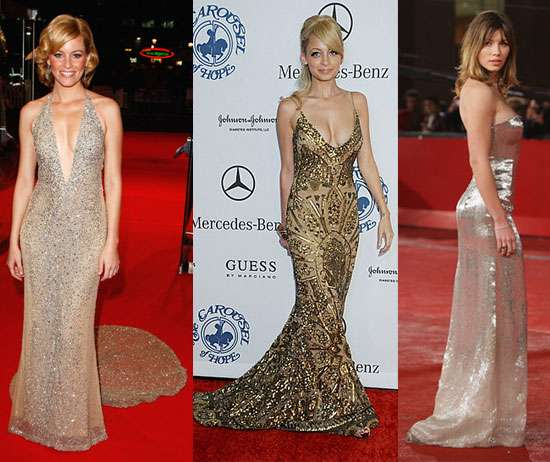 Golden Red Carpet Fashion
