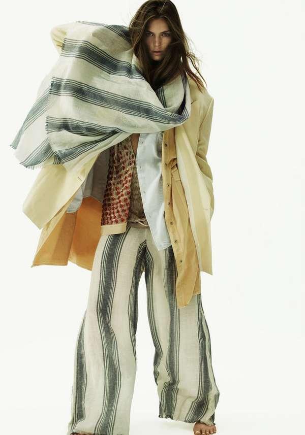 Layered Wind-Blown Fashions
