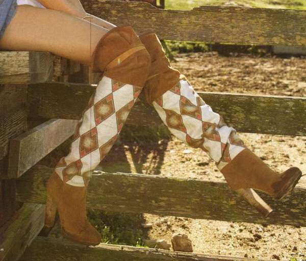 Thigh High Cowboy Boots