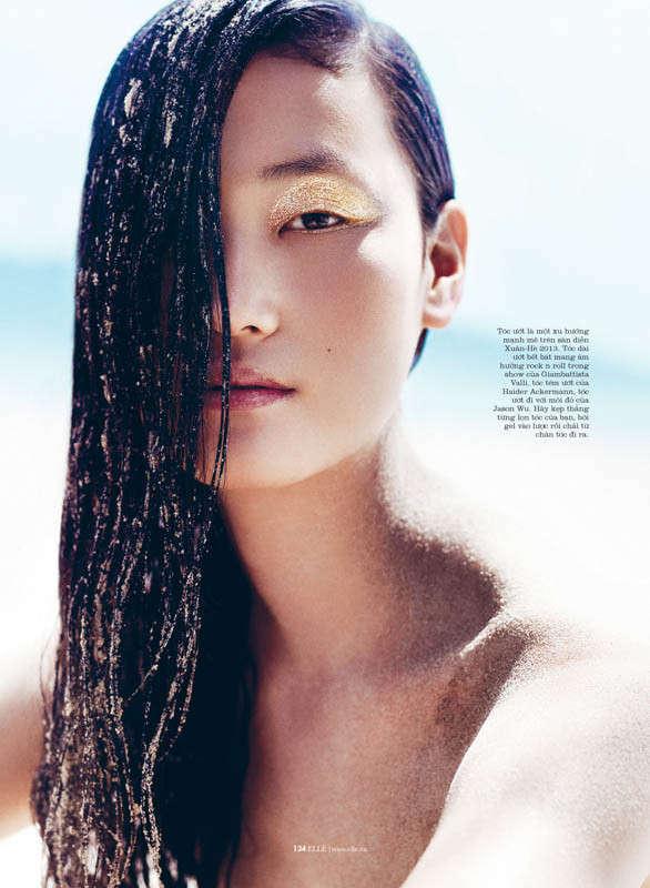 Golden Makeup Beauty Editorials