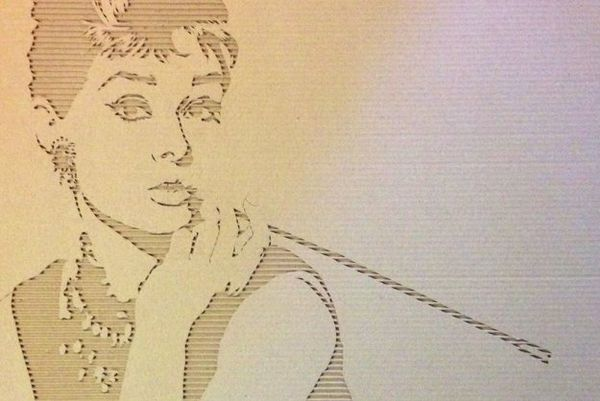 Cutout Cardboard Portraits