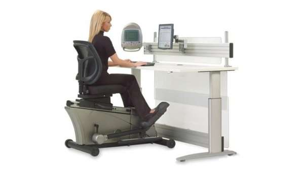 Gym Inspired Work Stations The Elliptical Desk Lets You Tone While Type