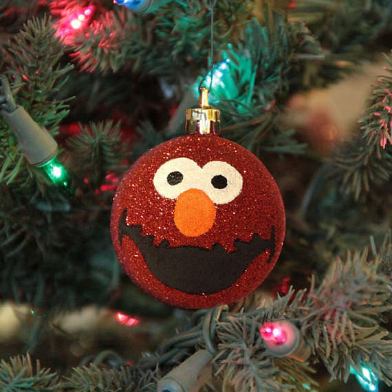 Personalized Puppet Ornaments : Elmo Christmas Ornament