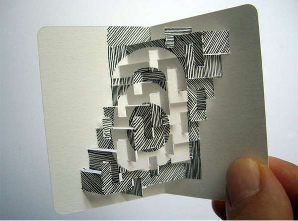 Protruding Paper Art