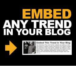 Embed Any Trend in Your Blog