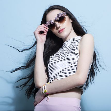 Crystallized Heart Sunglasses