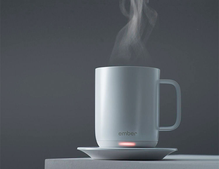App-Controlled Coffee Cups : ember ceramic mug