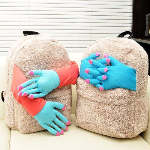 Eerie Protruding Hand Knapsacks