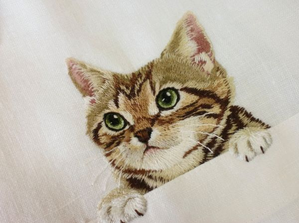 Fancy Feline-Embroidered Shirts