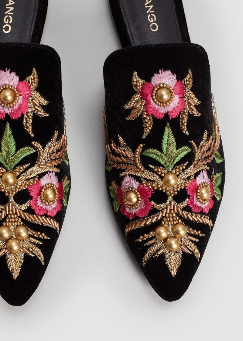 Affordable Embroidered Slippers