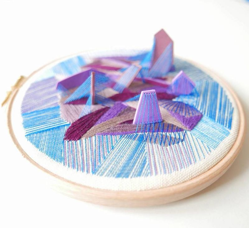 Three-Dimensional Embroideries