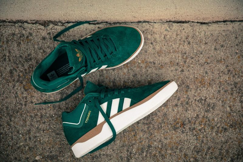 Slick Emerald Green Sneakers - The adidas Skateboarding x Tyshawn Jones Shoes are Performance-Ready (TrendHunter.com)