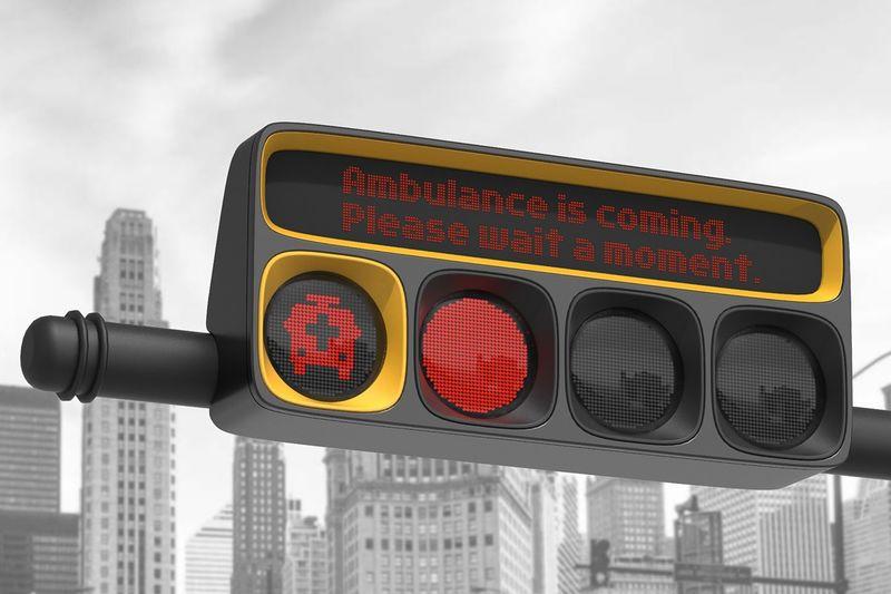 Ambulance-Warning Traffic Lights