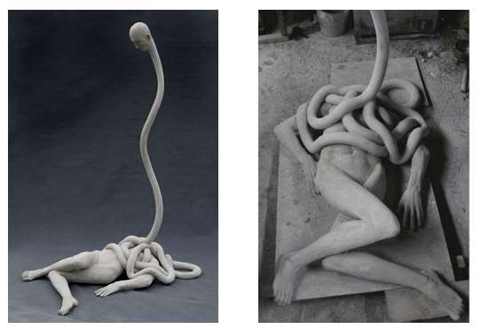 Stretched Neck Sculptures