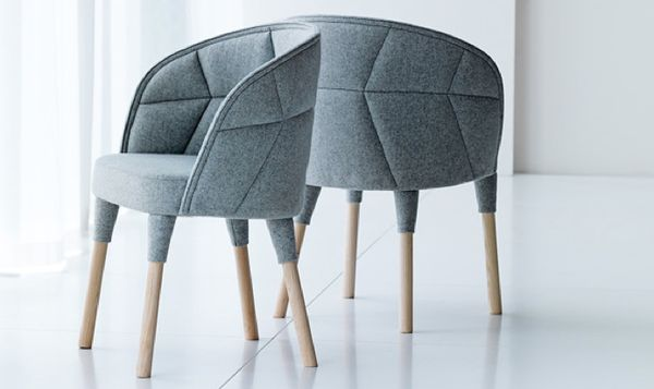 Abstractly Upholstered Armchairs