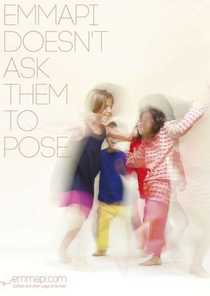 Unposed Kid Clothing Ads