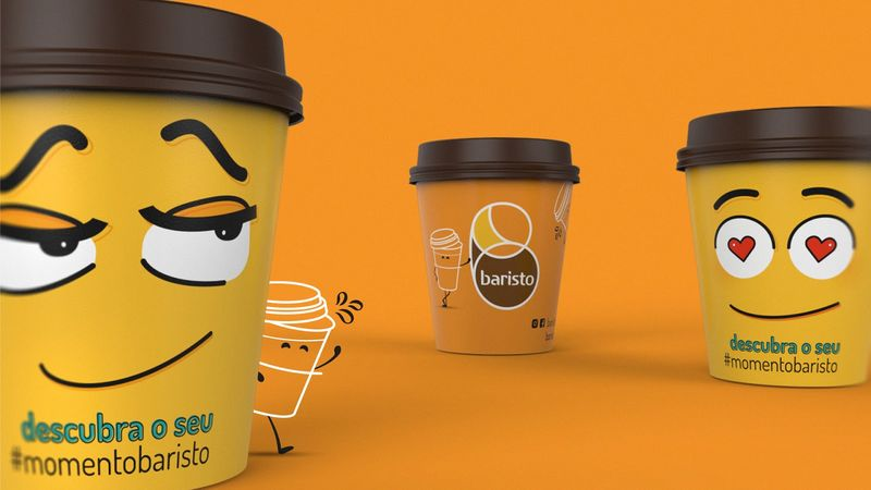 Emoticon Beverage Branding