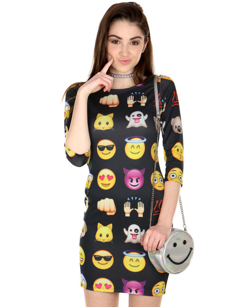 Graphic Emoji Dresses