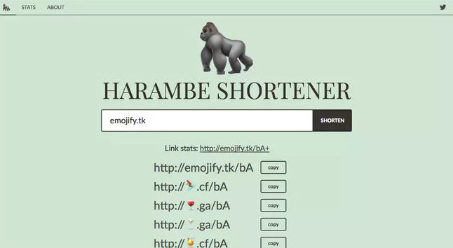 Emoticon URL Shorteners