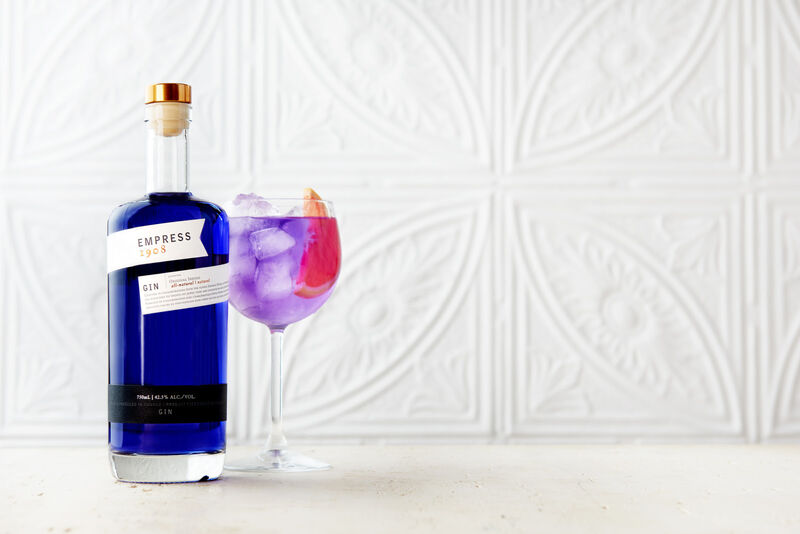 Colorful Gin Cocktails