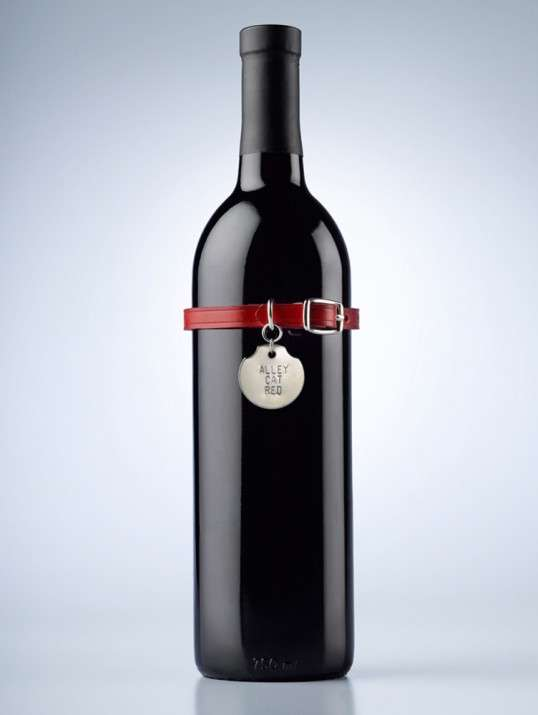 Dog-Tagged Wine Bottles