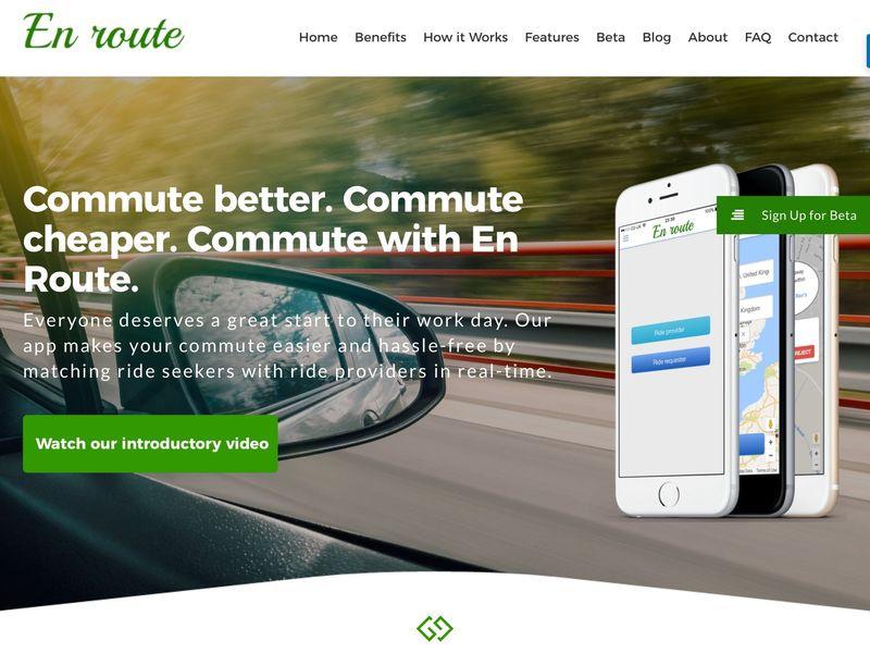 Cost-Effective Carpooling Apps : En Route