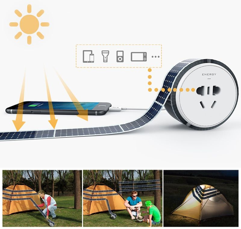 Sticky Tape Solar Panels
