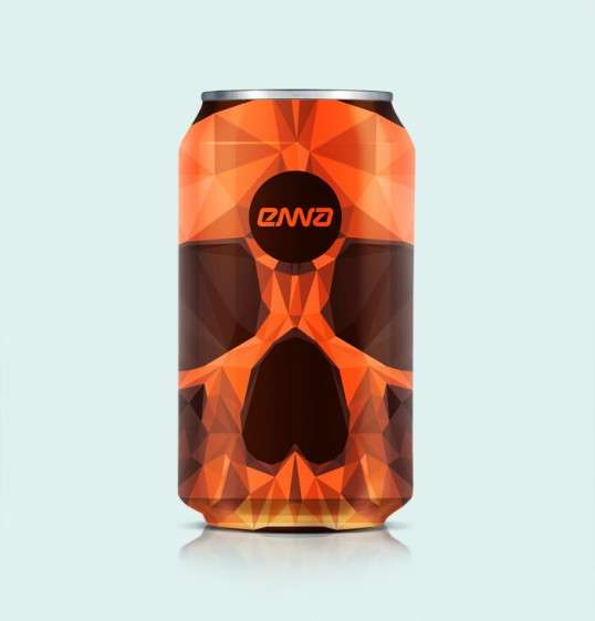 Geometric Skull Packaging