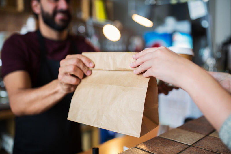 Durable Recycled Wood Takeout Bags