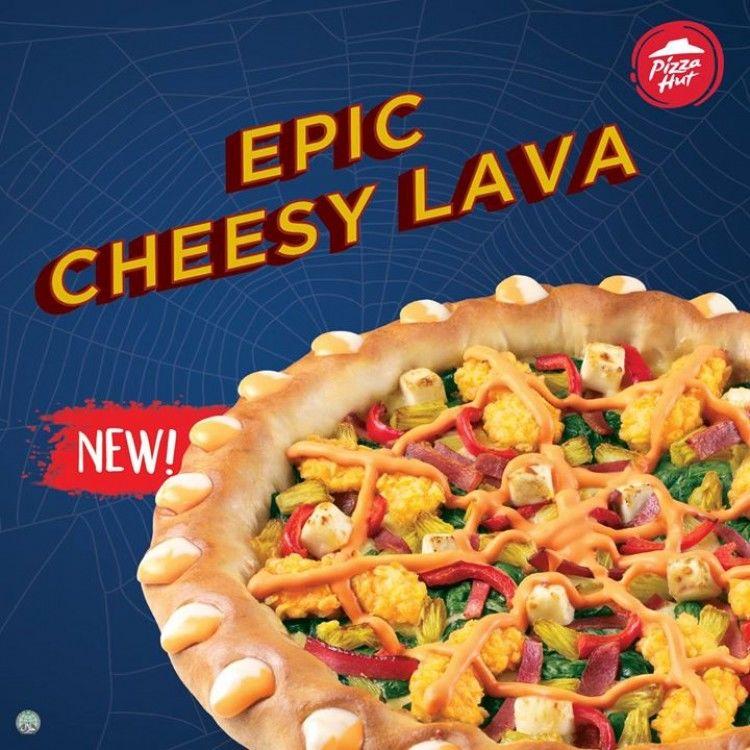Cheesy Lava Crust Pizzas