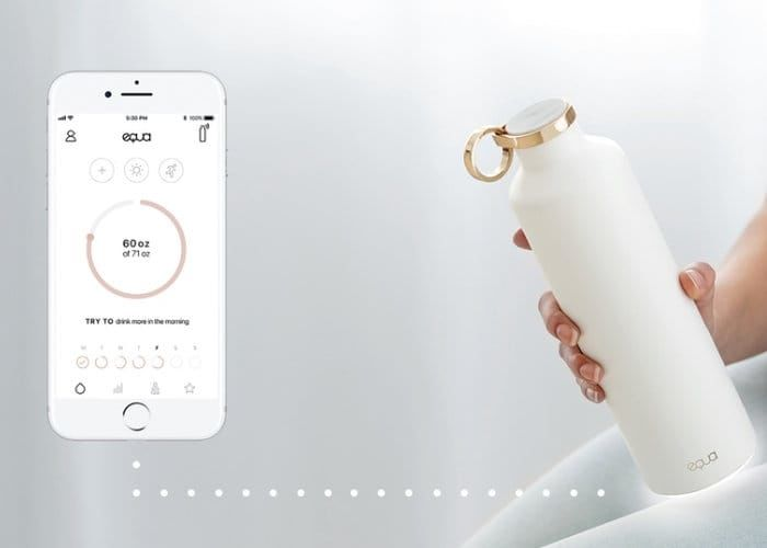Designer Hydration-Monitoring Bottles