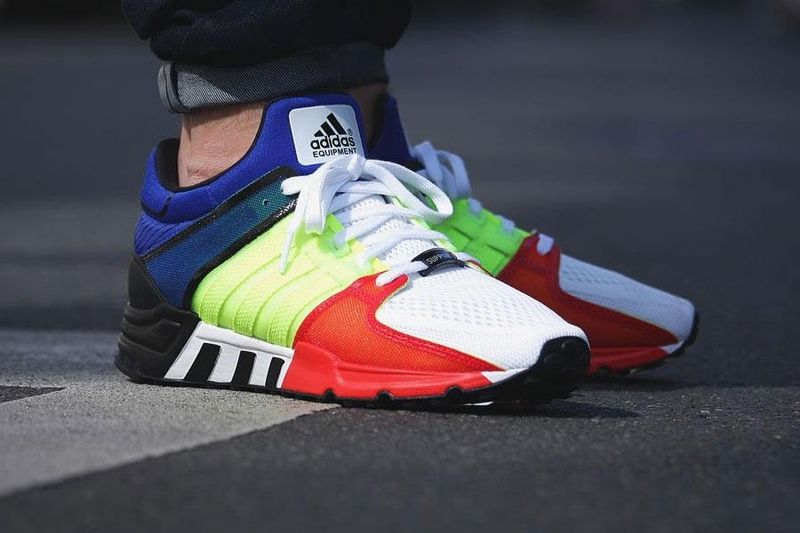 Vibrant Color-Blocked Sneakers