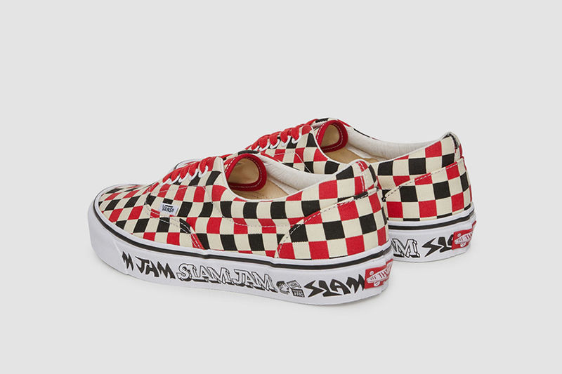 Logotype-Centric Checker Shoes