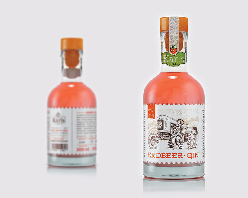Vintage Strawberry Gins