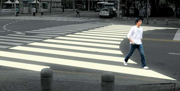 Curved Crosswalks