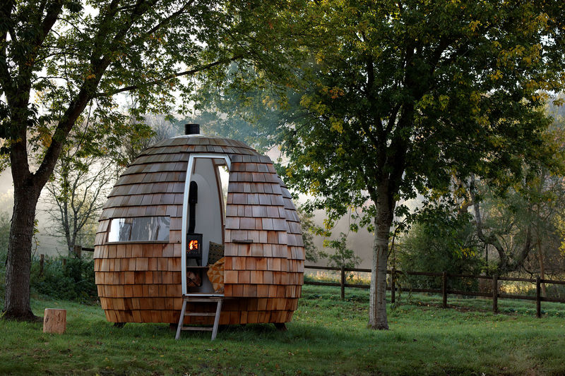 Charming Outdoor Relaxation Pods