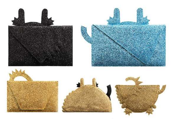 Glittery Animal-Shaped Clutches