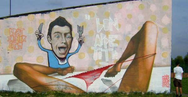 Vibrantly Crude Street Art