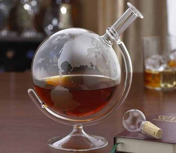 Fancy Globular Drink Decanters