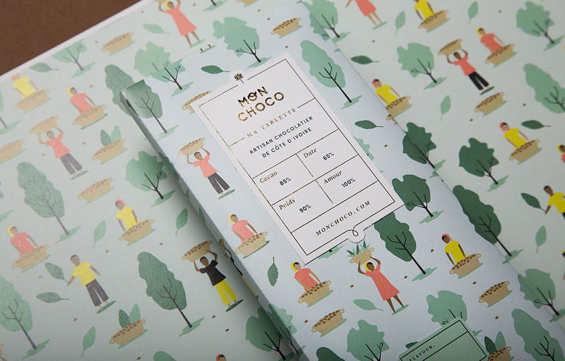 Illustrated Artisan Chocolate Branding