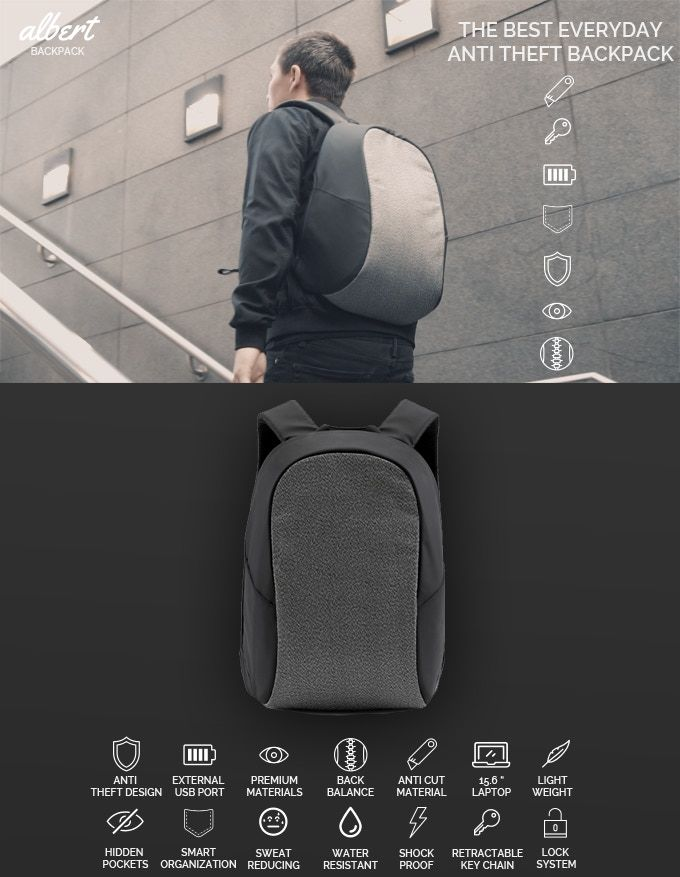Anti-Theft Everyday Backpacks