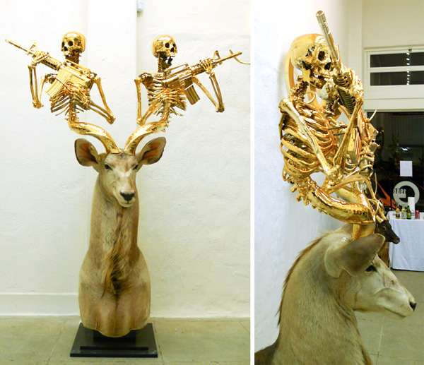 Fearsome Golden Antlers