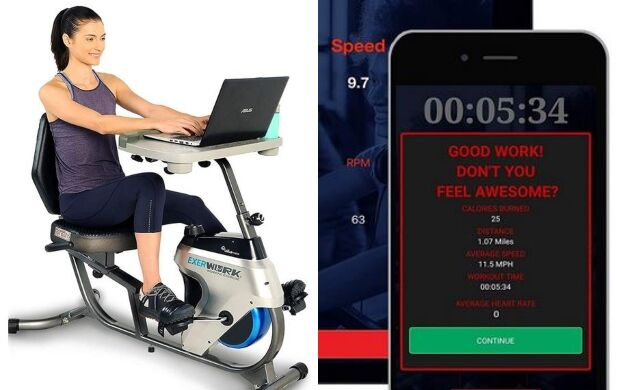 Desk-Equipped Workout Bikes
