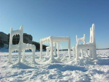 Frozen Furniture Furniture Made From Snow Makes Your