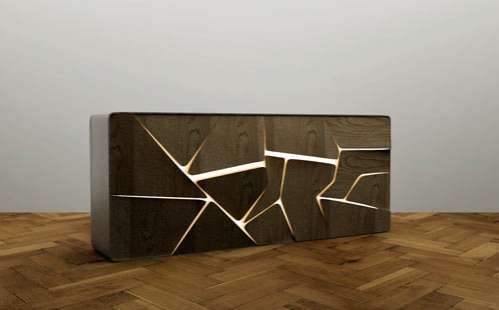 Glowing Fractured Furniture