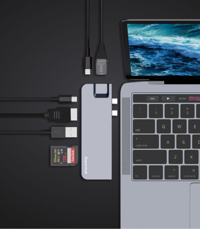 Six-in-One Laptop Hubs