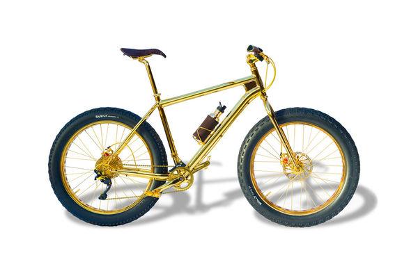 Opulent Golden Bicycles
